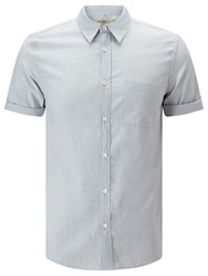 Levi's Made And Crafted Short Sleeve Shirt Grey Green Grey Green