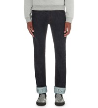 Kenzo Turn Up Cuffs Slim Fit Tapered Jeans Navy