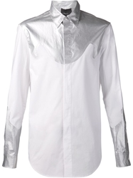 3.1 Phillip Lim Metallic Panel Shirt White