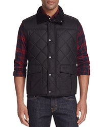 Barbour Boxley Quilted Waxed Cotton Gilet Vest Black