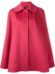Dolce And Gabbana Short Cape Coat Pink Purple