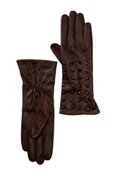 Vince Camuto Studded Cuff Leather Glove Red