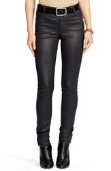 Women's Lauren Ralph Lauren Coated Stretch Skinny Jeans Black