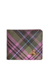 Vivienne Westwood Plaid Saffiano Leather Classic Wallet Multi