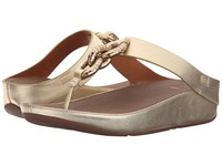 Fitflop Chain Toe Post Pale Gold Women's Sandals