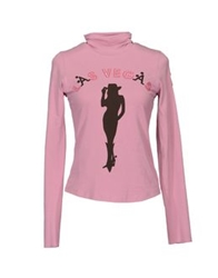 A Style Long Sleeve T Shirts Pink