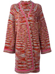 Missoni Patterned Open Mid Length Cardigan Multicolour