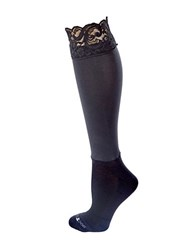 Bootights Lace Knee Hi With Attached Performance Sock Jet Black
