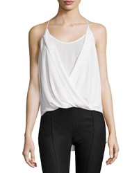 Bcbgmaxazria Sayge Sleeveless Faux Wrap Blouse White Women's