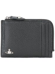 Vivienne Westwood Small Zip Around Wallet Black