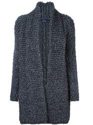 Polo Ralph Lauren Ribbed Slouchy Cardi Coat Grey