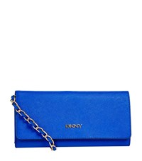 Dkny Bryant Park Chain Clutch Female Blue