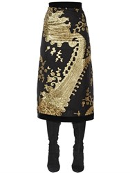 Ungaro Silk Blend Jacquard Fil Coupe Skirt