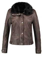 Gipsy Minna Leather Jacket Olive