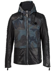 Philipp Plein Camouflage Panel Jacket Green