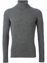 Zanone Turtle Neck Sweater Grey