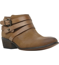 Steve Madden Regennt Strapped Leather Booties Brown Leather