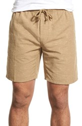 Men's Obey 'Palmer' Nepped Drawstring Shorts Khaki