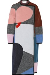 Issa Clemence Patterned Wool And Cashmere Blend Coat