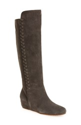 Isola Women's 'Taveres' Tall Boot Steel Grey Suede