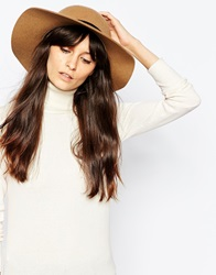 Whistles Felt Floppy Hat Camel