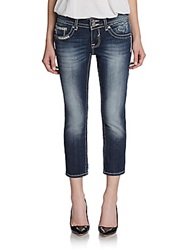 Vigoss Dublin Faded Capri Jeans Dark Wash