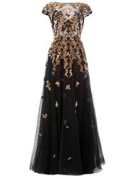 Zuhair Murad Embellished Flared Dress Black