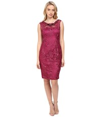 Adrianna Papell Cap Sleeve Sheath Dress With Beads Ash Rose Women's Dress Pink