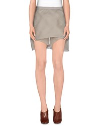 Rick Owens Skirts Knee Length Skirts Women Light Grey