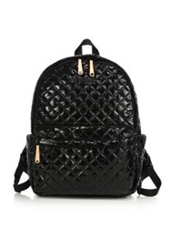 M Z Wallace Metro Lacquered Quilted Nylon Backpack