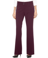 Alfani Two Button Curvy Fit Pants Only At Macy's Wine
