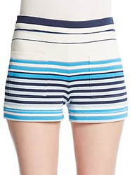 Marc By Marc Jacobs Paradise Striped Shorts Antique White Multi