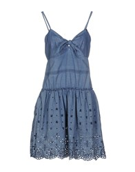Roy Rogers Roy Roger's Choice Dresses Short Dresses Women Slate Blue
