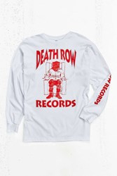 Urban Outfitters Death Row Records Long Sleeve Tee White