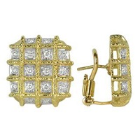 Torrini Wallstreet 18K Yellow Gold Diamond Earrings