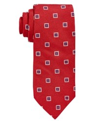 Brooks Brothers Men's Square Medallion Classic Tie Red