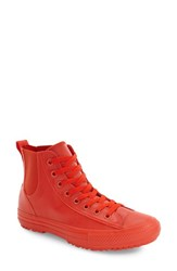Converse Women's Chuck Taylor All Star Chelsee Translucent Water Repellent High Top Sneaker Signal Red Signal Red