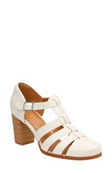 Women's Clarks 'Ciera Gull' Sandal Off White Leather
