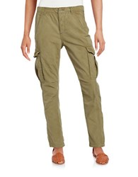 Free People Rugged Cotton Cargo Pants Green