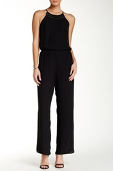 Eight Sixty Beaded Halter Jumpsuit Black