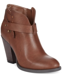 Xoxo Karol Ankle Booties Women's Shoes Brown