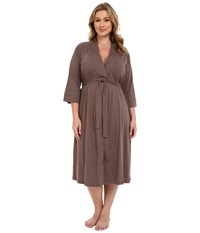 Jockey Plus Size 48 Cotton Robe Truffle Women's Robe Brown