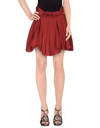 Collection Priv E Skirts Knee Length Skirts Women Maroon