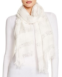 Altea Lurex Sequin Scarf Ivory