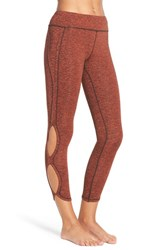 Free People Women's 'Infinity' Cutout Crop Leggings Red