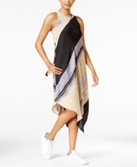 Rachel Roy Printed Asymmetrical Dress Only At Macy's Driftwood Combo
