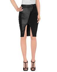 Mangano Skirts Knee Length Skirts Women Black