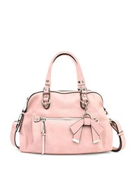 Jessica Simpson Tatiana Faux Leather Satchel Pink