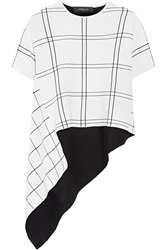Derek Lam Checked Jacquard Knit Top