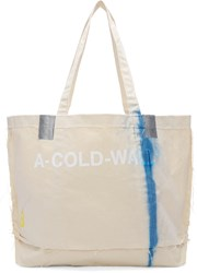 A Cold Wall Beige Industrial Cement Bag